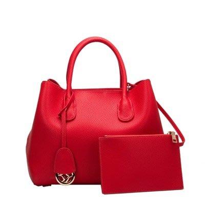 手提 包 真皮 肩背 包-時尚優雅高貴純色女包包3色73se29[獨家進口][米蘭精品]