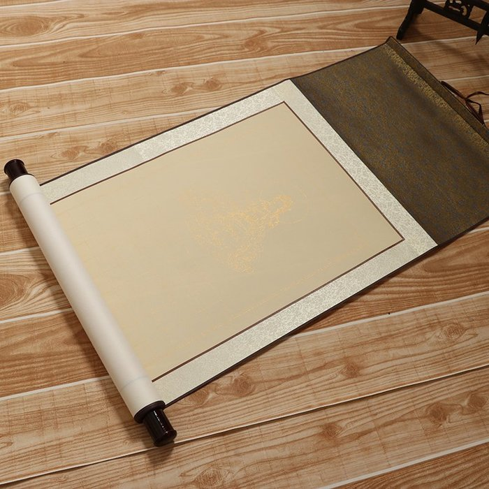 Art in THE【傑儒書畫】心經空白掛軸 抄經卷軸 心經方格子 宣紙掛軸橫軸 3cm格子 32x185cm