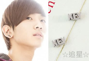 ☆追星☆ A124(耳針/磁石款)KE...