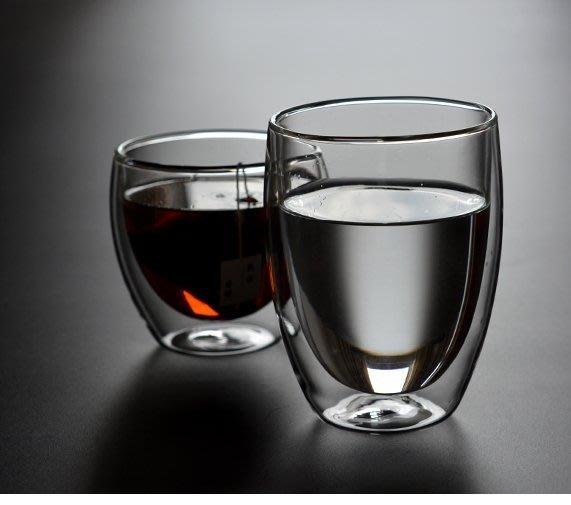 買十送一350ml 蛋形雙層玻璃杯 保溫隔熱 水杯 茶杯 高硼矽耐熱咖啡杯~丹麥~Bodu