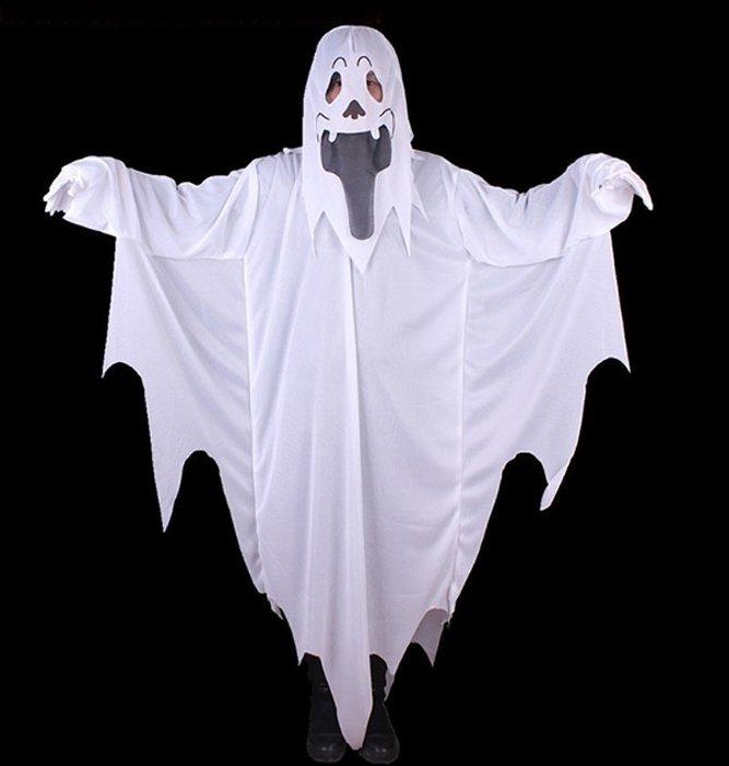 【洋洋小品白色幽靈裝阿飄服裝惡魔裝贈送白手套】大人成人萬聖節服裝化妝表演舞會派對造型角色扮演服裝道具萬聖節佈置