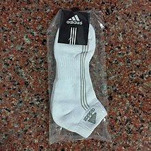 Adidas襪子  Adidas~ 條紋款~~加厚底款毛巾船襪~~D款  白底灰標~