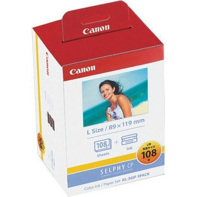 可刷卡 CANON KL-36IP 3PACK 印表機 相紙 3X5 108張 SELPHY CP系列適用