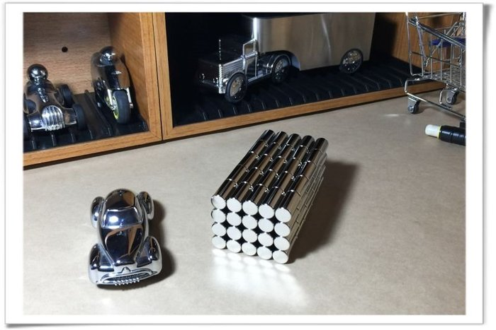 圓柱釹鐵硼磁鐵10mmx20mm-很適合磁力發電實驗用哦!