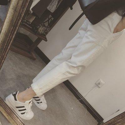 【Casi Cielo】 現貨 熱門回購款~超舒適 挺版 顯瘦 百搭 休閒褲 (白色 黑色 卡其)