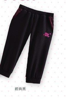 [三麗鷗服飾] HELLO KITTY 拼接印花七分運動褲-原價$690元,特價$350元