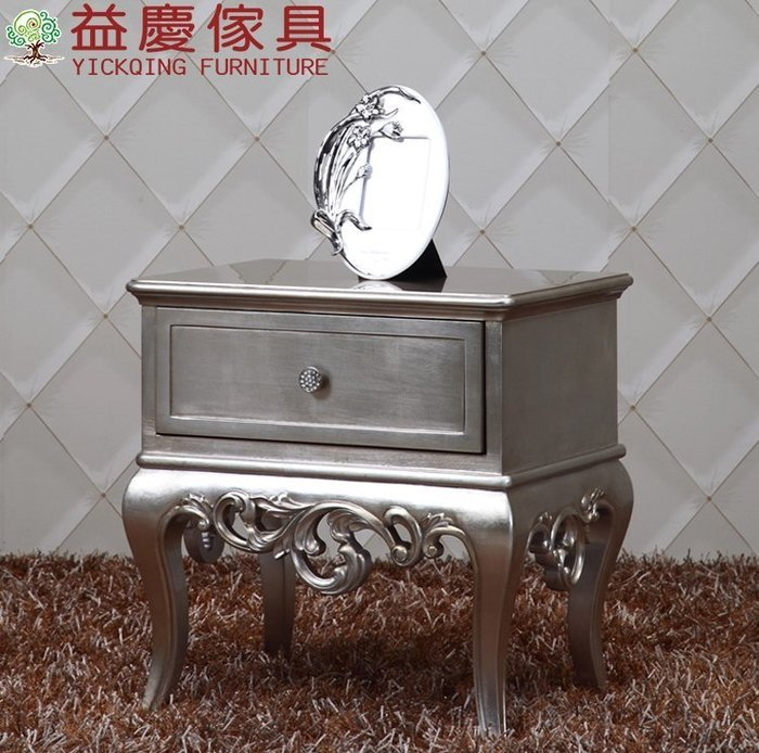 【大熊傢俱】CT0394 卡迪亞 新古典 床頭櫃 歐式 床邊櫃 斗櫃 置物櫃 休閒桌 邊几 電話几 花架