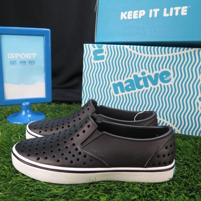 【iSport愛運動】Native MILES JUNIOR 童鞋 洞洞鞋 正貨新品 121046001105 黑色
