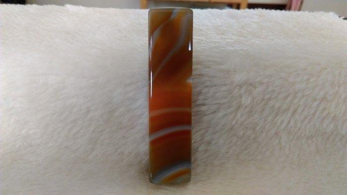 ~『臻愛.珊瑚小鋪』~~漂亮天然 瑪瑙方章 $580/含刻/隻~~精緻紋路~~自然光下微透 017