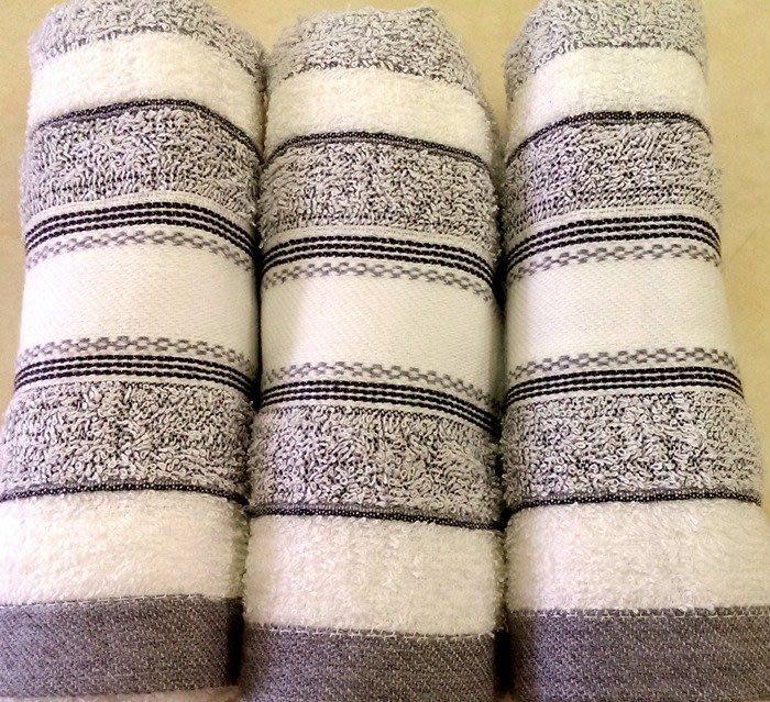 【台灣製】100%純棉 24兩 深淺竹毛巾