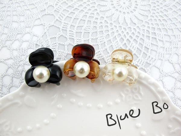 ~*BlueBo*~Korea 韓國飾品 超好用 心珍珠蝴蝶結小鯊魚夾    小抓夾~2cm