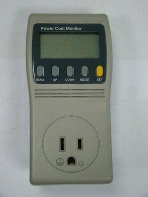 TECPEL 泰菱 》2022H 220V 數位電費計 功率計 瓦特計 電力監測器   三PIN 美規插頭 15A
