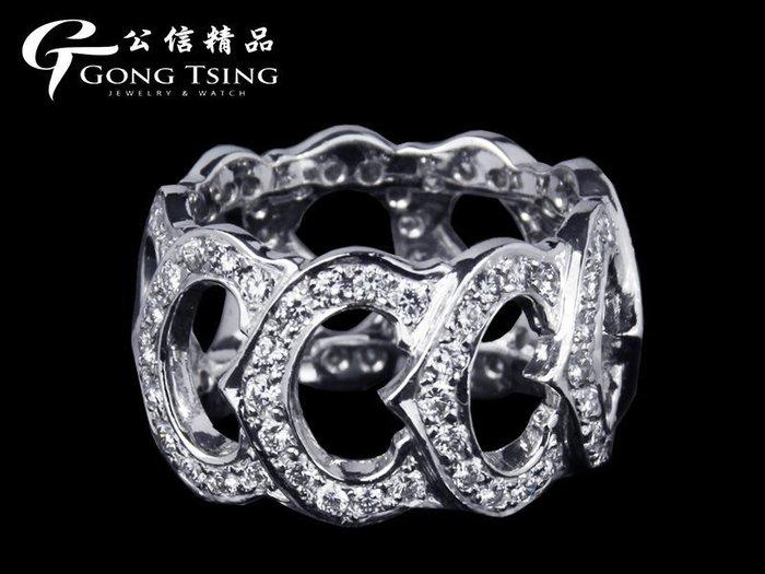 【公信精品】白K金 天然鑽石女戒 共約2.48克拉