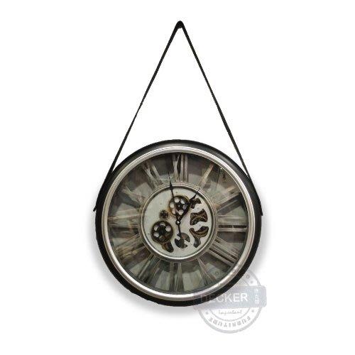 【Decker • 德克爾家飾】LOFT工業風格 時鐘掛鐘造型鐘 鏤空機芯 可動齒輪 齒輪掛鐘 機械錶掛鐘 - C款