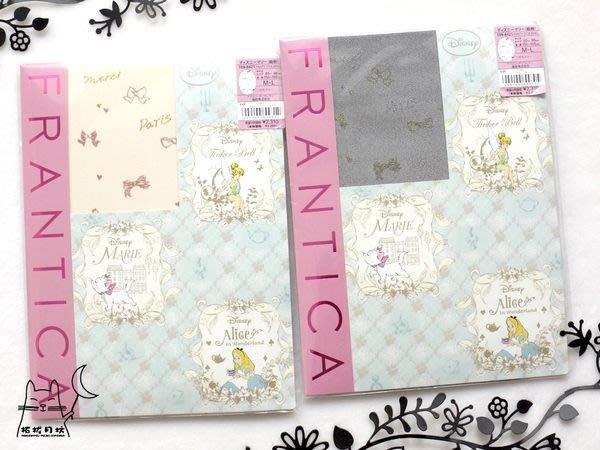 【拓拔月坊】福助 FRANTICA Disney 瑪莉貓 金蔥小物線條柄 絲襪 日本製~折扣季!