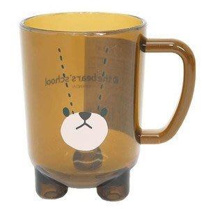 尼德斯Nydus~* 日本正版 小熊學校 傑琪 Jackie 造型杯子 透明水杯 壓克力材質 防破 280ml