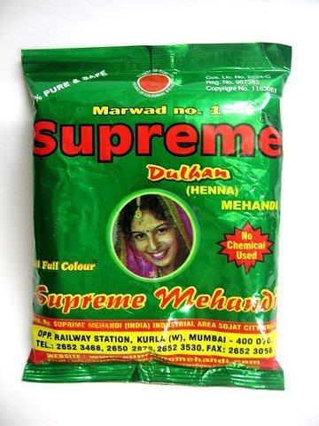 印度 純天然henna指甲花粉 染髮粉 200gm