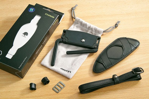 呈現攝影-MATIN CREPIS 經典手腕帶 附支撐架 (黑色) 減壓手腕帶 厚海綿 真皮 Canon Nikon Sony※