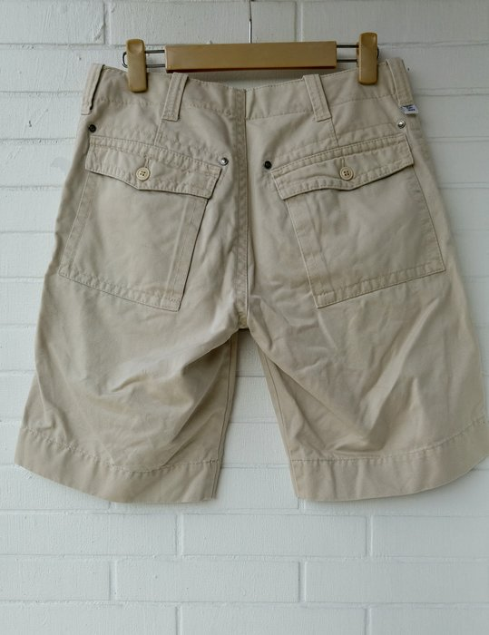(J0004) $599起標 Calvin Klein Jeans CK 淺卡其色純棉工作短褲