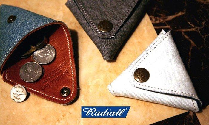GOODFORIT / Radiall  Huntington Purse單寧布植鞣皮革一體成型錐形零錢包