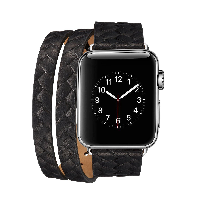 新款編織造型 Apple watch3 38 42 mm s2 s3 真皮皮革 錶環 錶鏈帶 錶鍊 錶帶 手錶帶 質感