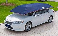 汽車遮陽傘遮陽擋智慧移動車庫篷防曬隔熱車衣罩伸縮折疊車棚(半自動) C01