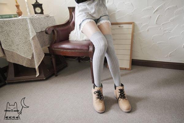 【拓拔月坊】日本知名品牌 M&M 厚棉直紋寬版 膝上襪 日本製~現貨!