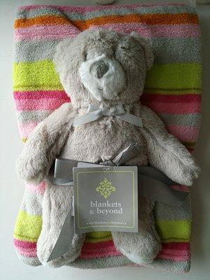 【美國品牌】100%全新正品 嬰幼兒 輕柔舒眠 極柔絨毯/ 毛毯/ 抱毯/ 萬用毯 冷氣房可用 彌月禮 二件組BAB20