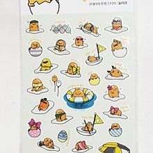 全新品 韓國 購回  Sanrio 限定版系列 可愛蛋黃哥貼紙 一張 ST-1 售價 HKD48