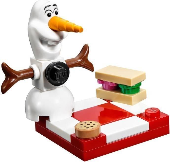 現貨【LEGO 樂高】全新正品 益智玩具 積木/公主系列:艾莎的閃亮冰雪城堡41062 冰雪奇緣 單售: 雪寶+野餐組