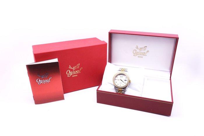 【高雄青蘋果】愛其華 Ogival 303271DMSK 閃耀豪情晶鑽自動機械男錶 二手 手錶 #12989
