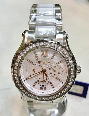 {FUAN}內湖實體店面 Roven Dino羅梵迪諾 時尚奢華晶鑽腕錶 RD6018A-536 白 一年保固 公司貨
