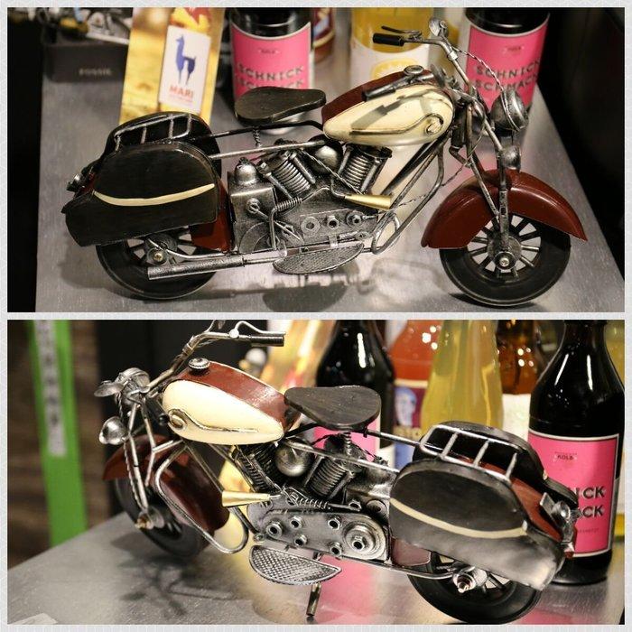 @3C 柑仔店@聖誕 交換 禮物 鐵製 復古哈雷機車 裝飾品 鐵皮 機車 摩托車 模型 家居飾品 懷舊 歐式 英國鄉村