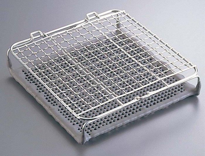 日本丸十金網 京都金網 魚燒器 魚烤架 金屬陶瓷雙層燒烤網(大款)日本製 空運來台