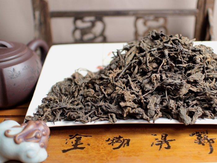 【藏茶閣嚴選】90年代 豆韻普洱熟散茶 港倉 老韻迷人 甜香宜人 適合煮茶  300克