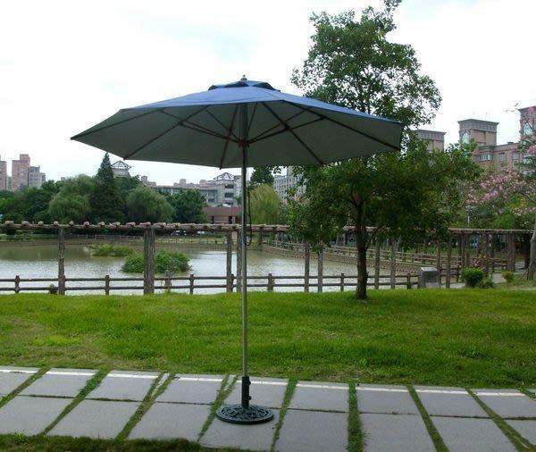 [兄弟牌戶外休閒傢俱]九尺(270cm)單柱不鏽鋼管柄防鏽太陽傘--遮陽傘海邊山上抗風防鏽專用款(可多色訂製傘布)。