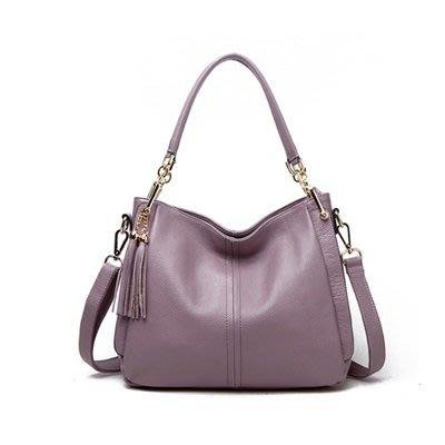 手提 包 真皮 肩背 包-時尚流蘇純色氣質女包包3色73se31[獨家進口][米蘭精品]