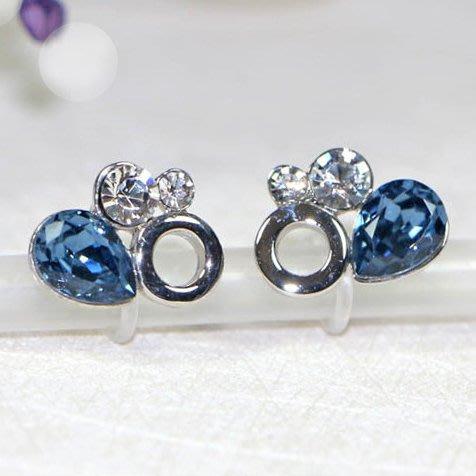 浪漫派飾品 G695-@ 為歡幾何 兩色可選 夾式耳環 矽膠耳環 無耳洞專用