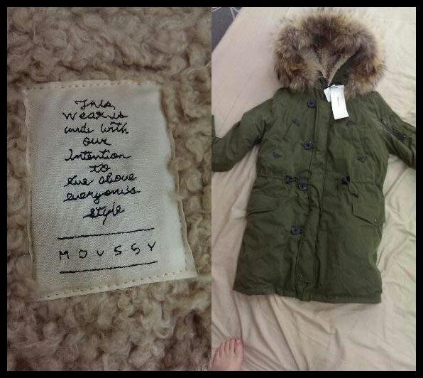 MOUSSY× 山東 +第一批日本單+ 2013 MOUSSY N3B 水原希子豹紋捲捲毛大毛領羽絨外套 短版/長版