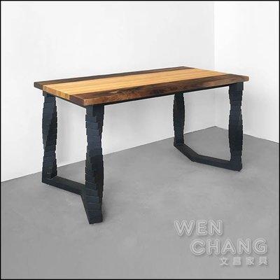 訂製品 拼接原木長桌 (相思木+巴拉圭松木) CU054 *文昌家具*