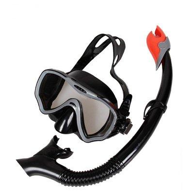新款浮潛潛水鏡-全乾式呼吸管-超清鋼化玻璃純硅膠環保超舒適-成人款-現貨或預購MJS8P