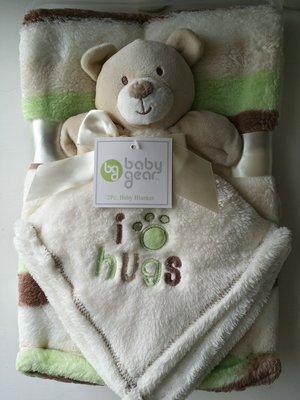 【美國品牌】100%全新正品 嬰幼兒 輕柔舒眠 極柔絨毯/ 毛毯/ 抱毯/ 萬用毯 冷氣房可用 彌月禮 二件組BAB18