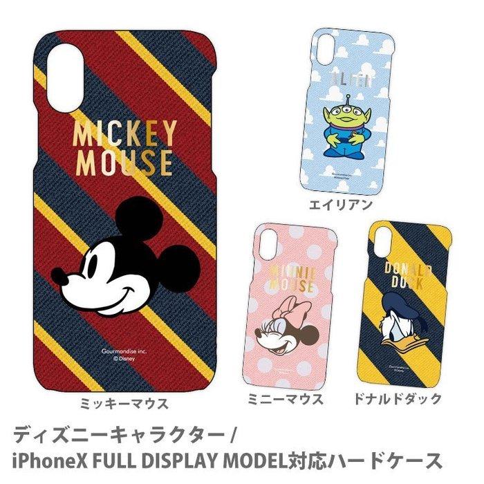 尼德斯Nydus 日本正版迪士尼 米奇 米妮 唐老鴨 三眼怪 條紋 硬殼 手機殼 iPhone X