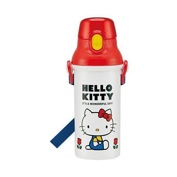 41+現貨不必等 挑戰Y拍最低價 日本製 Hello Kitty 彈蓋頭型 直飲式水壺 水壺 480ML 小日尼三