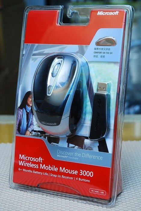 微軟 Microsoft 光學無線行動滑鼠 3000 Wireless Mobile Mo