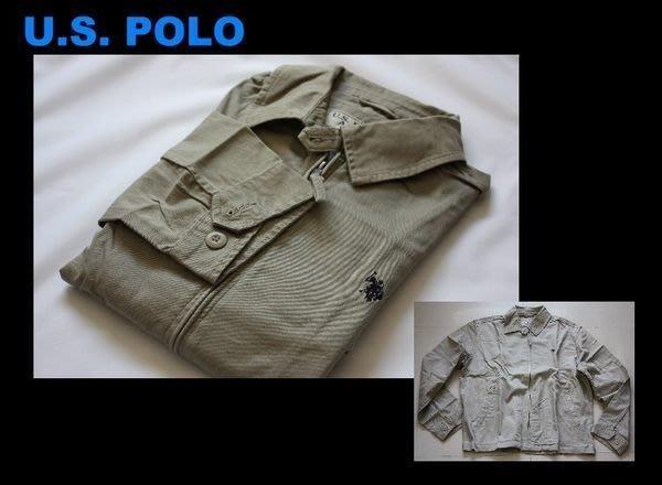 特價出清【 U.S. POLO 】100% 全新正品 純棉 長袖 外套 短大衣 - M 號 / 卡其色*