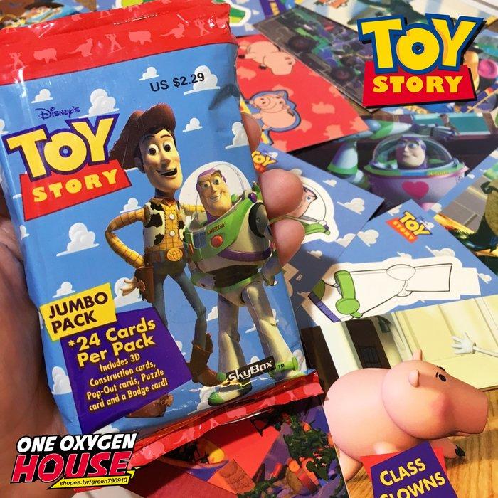 絕版 3D 1996年 美國 迪士尼 玩具總動員 胡迪 巴斯 三眼怪 卡片 小卡 遊戲卡 故事卡 老物 抱抱龍