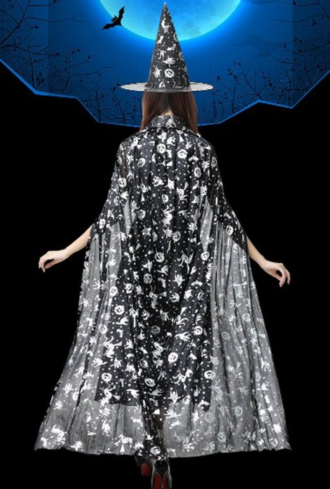 【洋洋小品大人披風成人斗篷印金大披風金銀披風】魔法師披風巫婆披風萬聖節化妝表演舞會派對造型角色扮演服裝道具