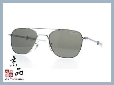京品眼鏡 AO 美國 飛官太陽眼鏡 OP 52mm S.BA.TC 銀/透明色框 灰色玻璃鏡片 公司貨 JPG