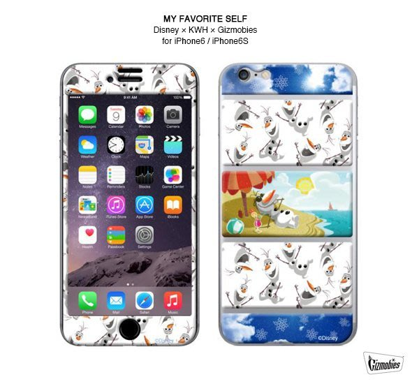 GOODFORIT / 日本Gizmobies iPhone6/6S冰雪奇緣雪寶3M保護貼